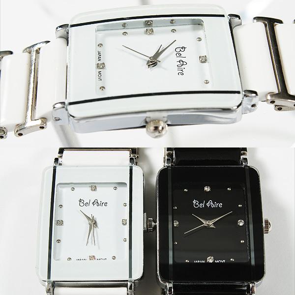 【ブレスレット感覚】★レディース・モノトーン&ストーンスタイル腕時計 OSD16-L1