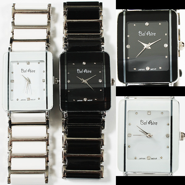【ブレスレット感覚】★レディース・モノトーン&ストーンスタイル腕時計 OSD16-L3