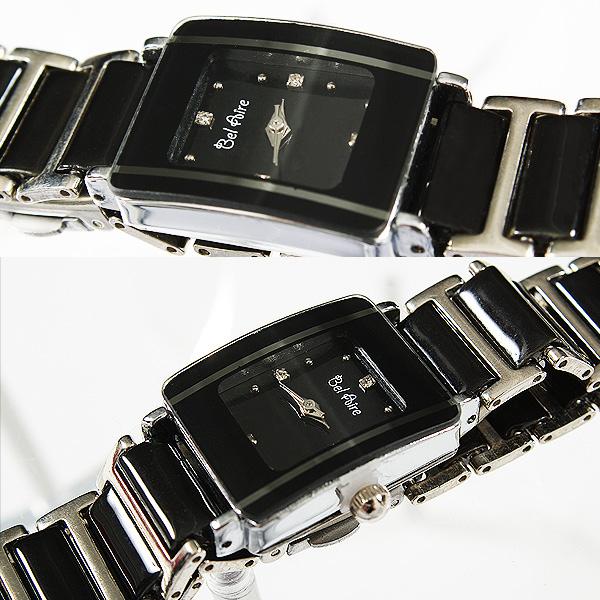 【ブレスレット感覚】★レディース・モノトーン&ストーンスタイル腕時計 OSD16-S1