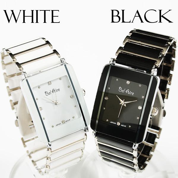 【ブレスレット感覚】★レディース・モノトーン&ストーンスタイル腕時計 OSD16-S2