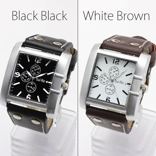 【ロングセラー】★スクエアビッグフェイス・ブレスレット腕時計 JH192