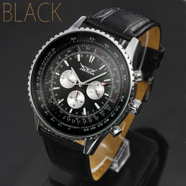 【全針稼動の本格仕様!】★ビッグフェイス・自動巻きクロノグラフ腕時計 BCG404
