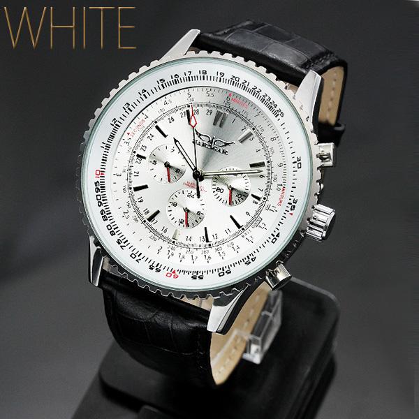 【全針稼動の本格仕様!】★ビッグフェイス・自動巻きクロノグラフ腕時計 BCG405