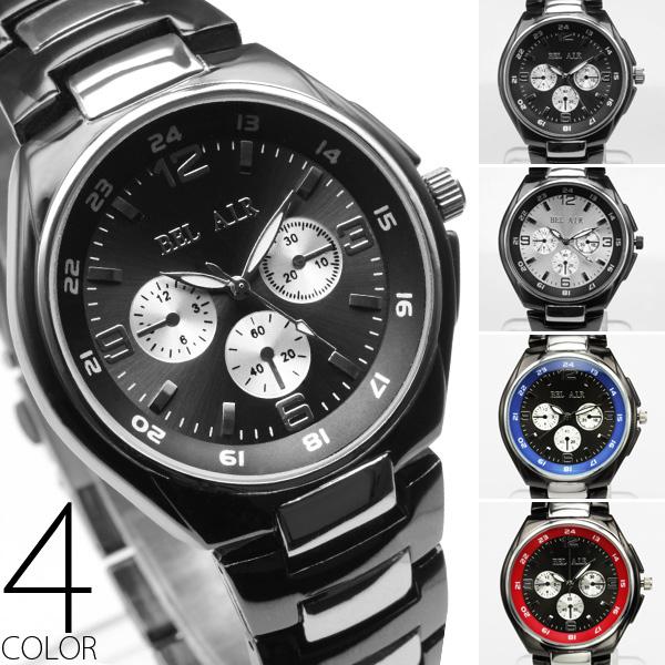 【新色追加!】★バイカラー仕様フルステンレス腕時計 OSD651