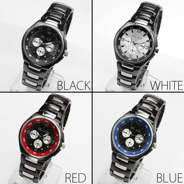 【新色追加!】★バイカラー仕様フルステンレス腕時計 OSD652