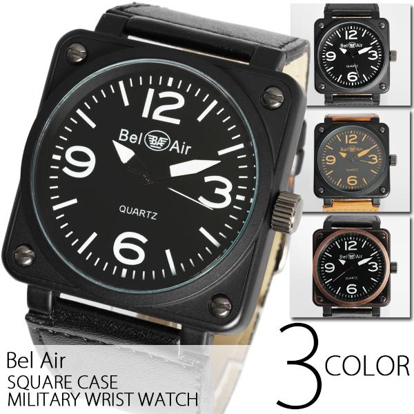 【メンズ仕様】★スクエアビッグフェイス・ミリタリー腕時計 OSD15-L1