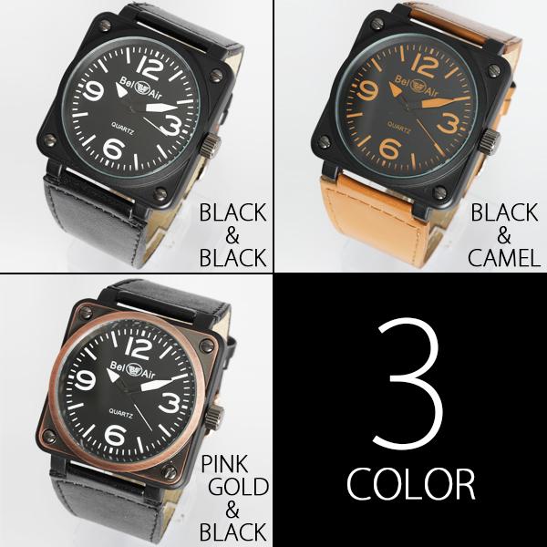 【メンズ仕様】★スクエアビッグフェイス・ミリタリー腕時計 OSD15-L2