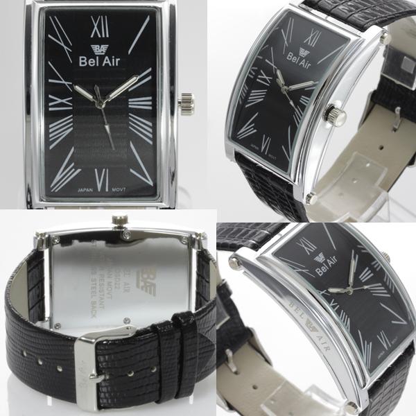 【使い勝手抜群!】★ラウンドスクエア・ビッグフェイス腕時計 OSD221