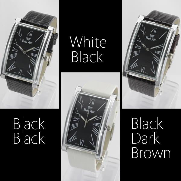 【使い勝手抜群!】★ラウンドスクエア・ビッグフェイス腕時計 OSD222
