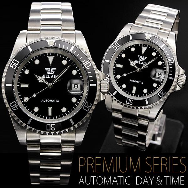 【カレンダー機能付き】★ミディアムフェイス自動巻き腕時計 BCG54-SV