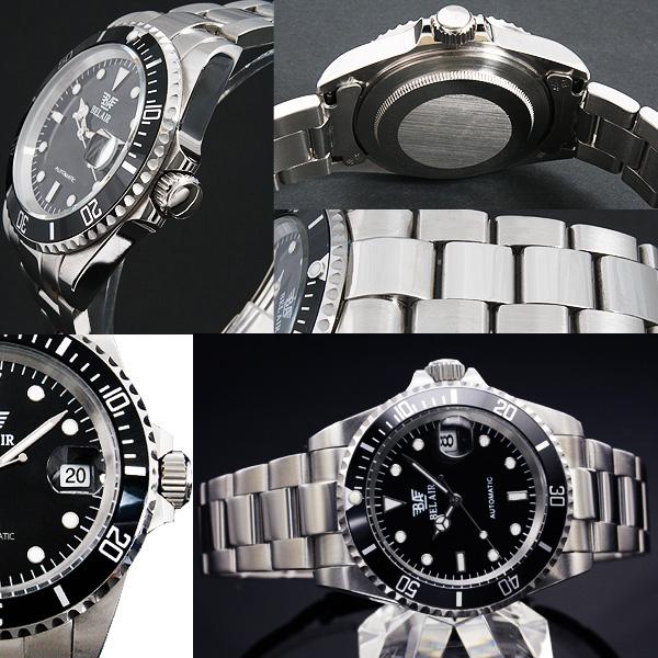 【カレンダー機能付き】★ミディアムフェイス自動巻き腕時計 BCG54-SV1