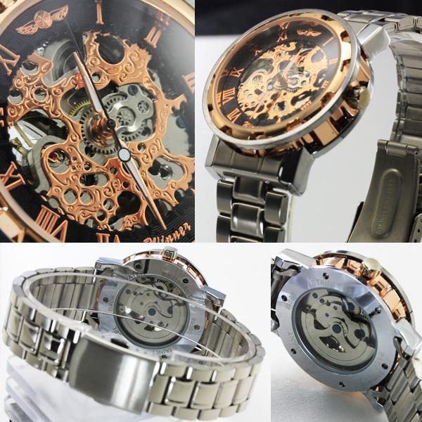 【ギミックの効いた仕上がり】★フルスケルトン自動巻き腕時計 BCG32-GOST1