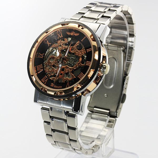 【ギミックの効いた仕上がり】★フルスケルトン自動巻き腕時計 BCG32-GOST2