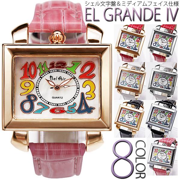 【シェル文字盤を使用!】★トップリューズ式ミディアムフェイス腕時計 OSD17-S1
