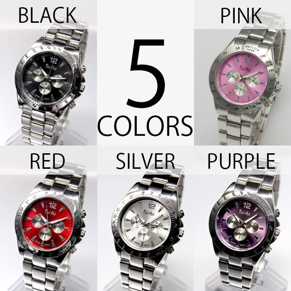 【回転式ベゼルを使用】★ミディアムフェイス腕時計 OSD672