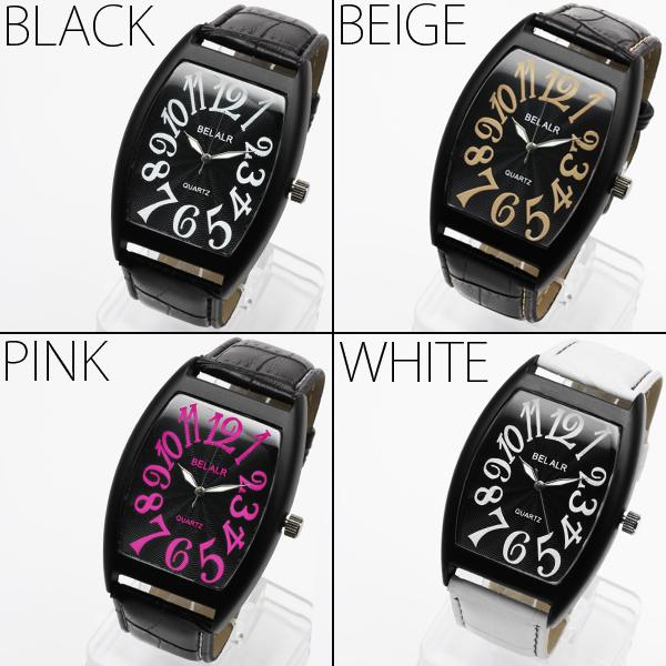 【艶消し仕上げ】★NEWスクエアビッグフェイス腕時計 JH342