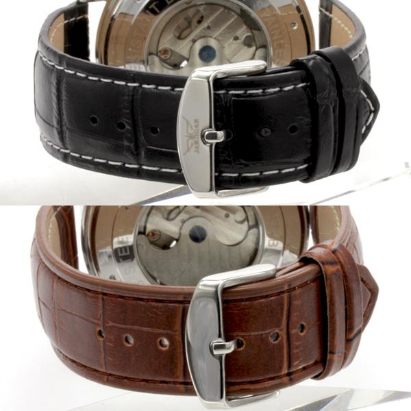 【カレンダー機能付き】★自動巻きバックスケルトン腕時計 BCG923