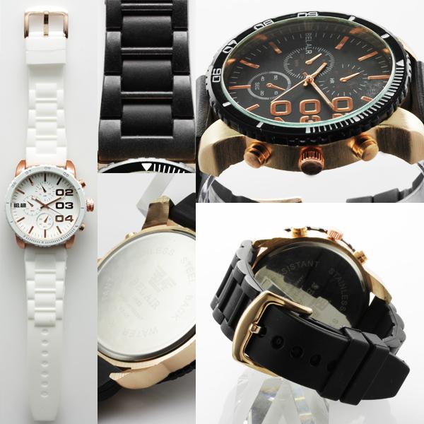 【入荷の度に即完売】★ビッグフェイス&ラバーベルト腕時計 OSD311