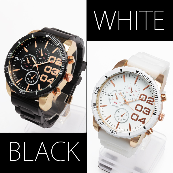 【入荷の度に即完売】★ビッグフェイス&ラバーベルト腕時計 OSD312