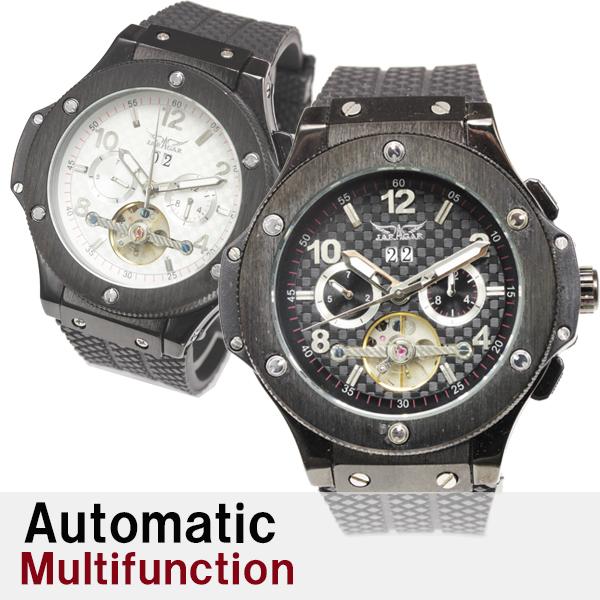 【全針稼動の本格仕様】★マルチファンクション自動巻き腕時計 BCG1081