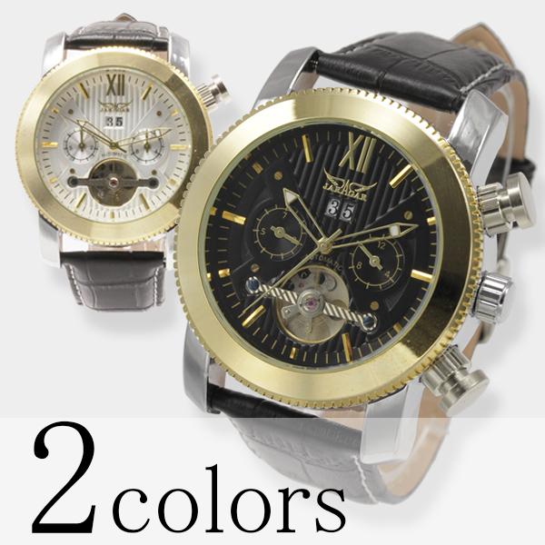 【全針稼動の本格仕様】★マルチファンクション自動巻き腕時計 BCG109