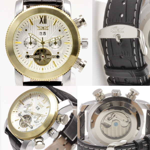 【全針稼動の本格仕様】★マルチファンクション自動巻き腕時計 BCG1091