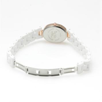 【レディース仕様】★ピンクゴールド オーバルフェイス レディース腕時計 OSD41-WH2