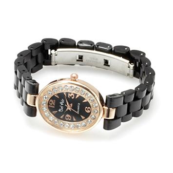 【レディース仕様】★ピンクゴールド オーバルフェイス レディース腕時計 OSD41-BK1
