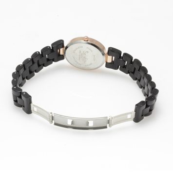 【レディース仕様】★ピンクゴールド オーバルフェイス レディース腕時計 OSD41-BK2