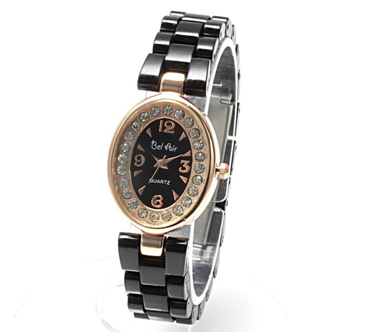 【レディース仕様】★ピンクゴールド オーバルフェイス レディース腕時計 OSD41-BK4