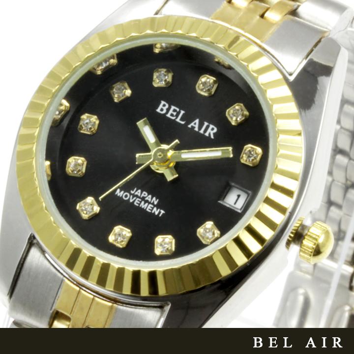 【レディース仕様】★ラグジュアリー ストーンインデックス レディース腕時計 OSD33-BK1