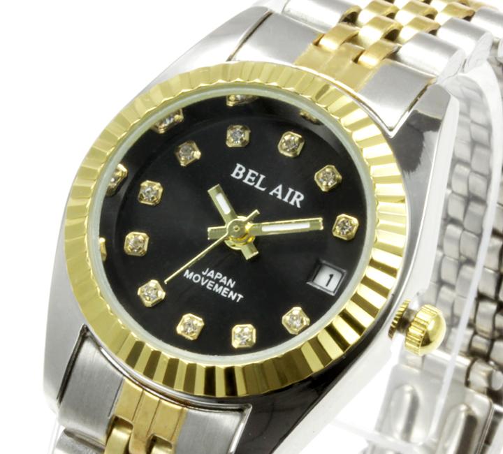 【レディース仕様】★ラグジュアリー ストーンインデックス レディース腕時計 OSD33-BK3