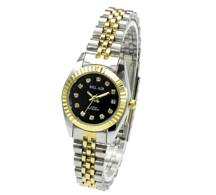 【レディース仕様】★ラグジュアリー ストーンインデックス レディース腕時計 OSD33-BK4