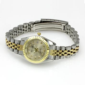 【レディース仕様】★ラグジュアリー ストーンインデックス レディース腕時計 OSD33-GO1