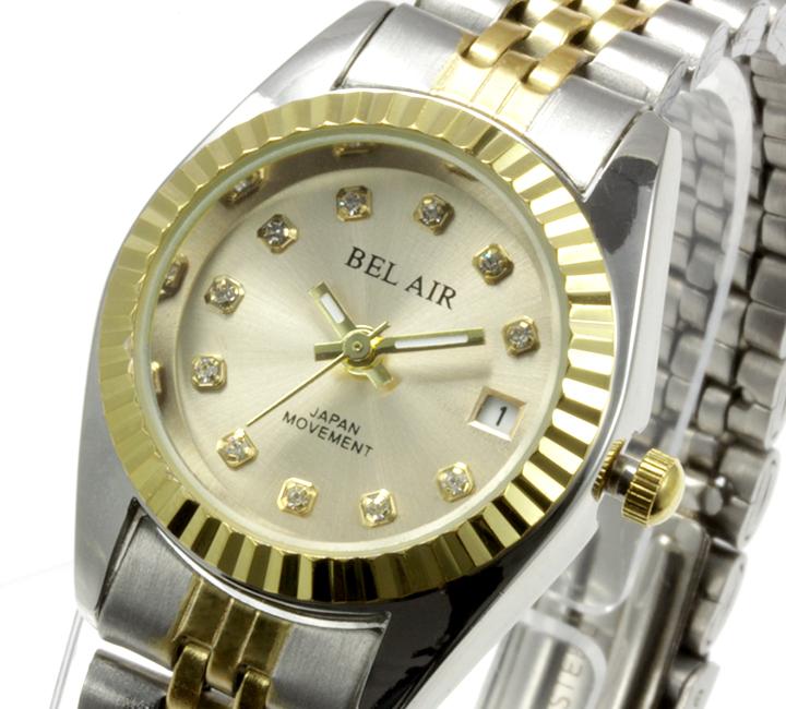 【レディース仕様】★ラグジュアリー ストーンインデックス レディース腕時計 OSD33-GO3