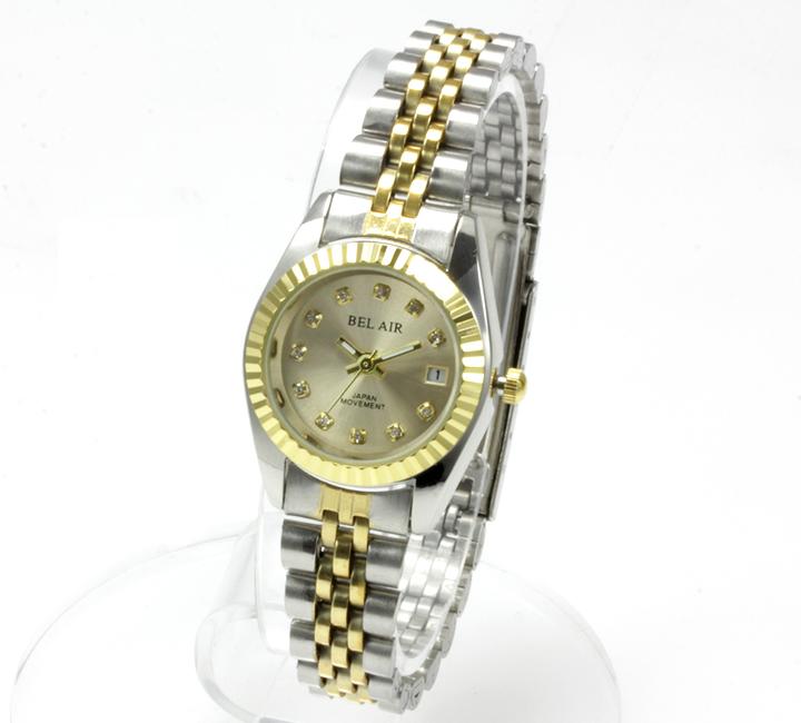 【レディース仕様】★ラグジュアリー ストーンインデックス レディース腕時計 OSD33-GO4