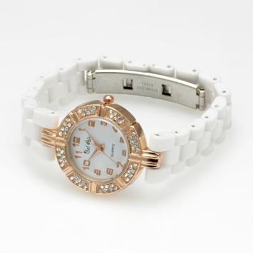 【レディース仕様】★ゴールドホワイ レディース腕時計 OSD42-WH1