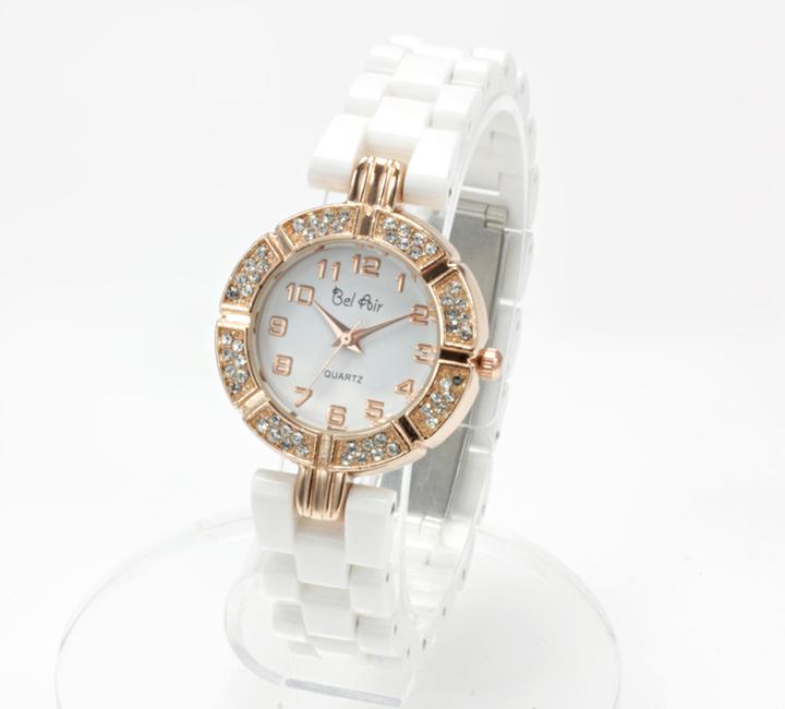 【レディース仕様】★ゴールドホワイ レディース腕時計 OSD42-WH3