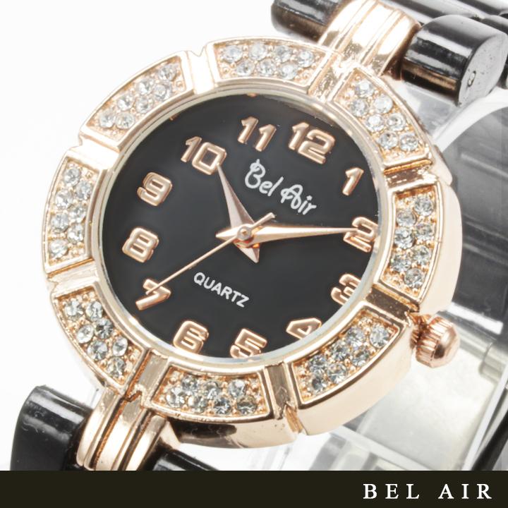 【レディース仕様】★ゴールドホワイ レディース腕時計 OSD42-BK1
