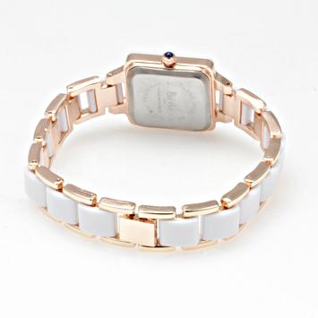 【レディース仕様】★スクエアフェイス レディース腕時計 DNS1-WH2