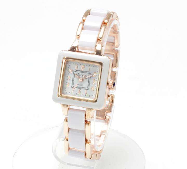 【レディース仕様】★スクエアフェイス レディース腕時計 DNS1-WH4