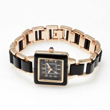 【レディース仕様】★スクエアフェイス レディース腕時計 TS1-BK1