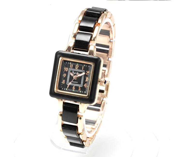 【レディース仕様】★スクエアフェイス レディース腕時計 TS1-BK4