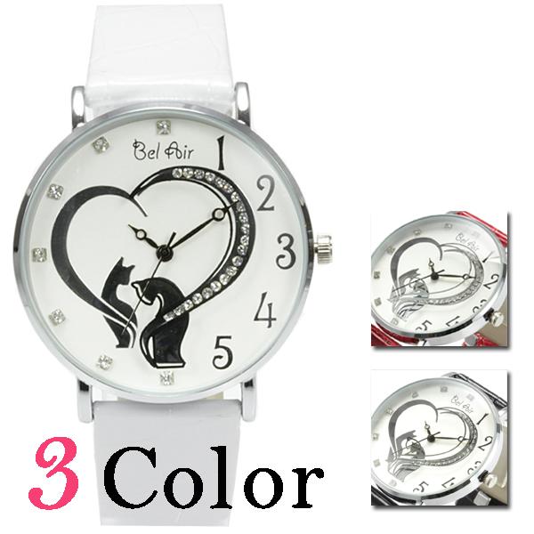 【レディース仕様】★ハートモチーフ レディース腕時計 OSD40【BOX・保証書付】1