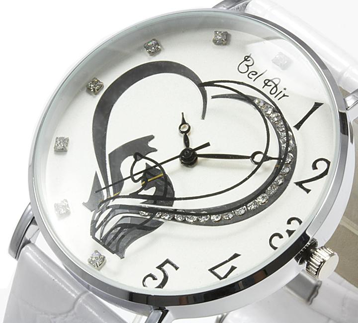 【レディース仕様】★ハートモチーフ レディース腕時計 OSD40【BOX・保証書付】3