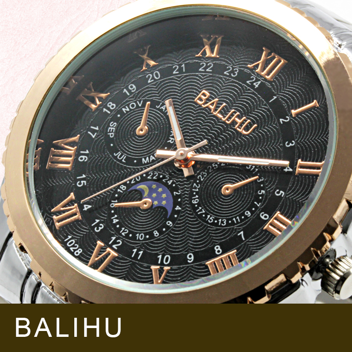 【Bel Air collection】★マルチファンクション メンズ腕時計 DP6-S【BALIHU】
