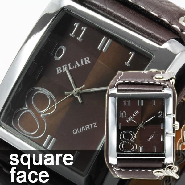 【スクエアフェイス】 メンズ腕時計 WC1【Bel Air collection】1