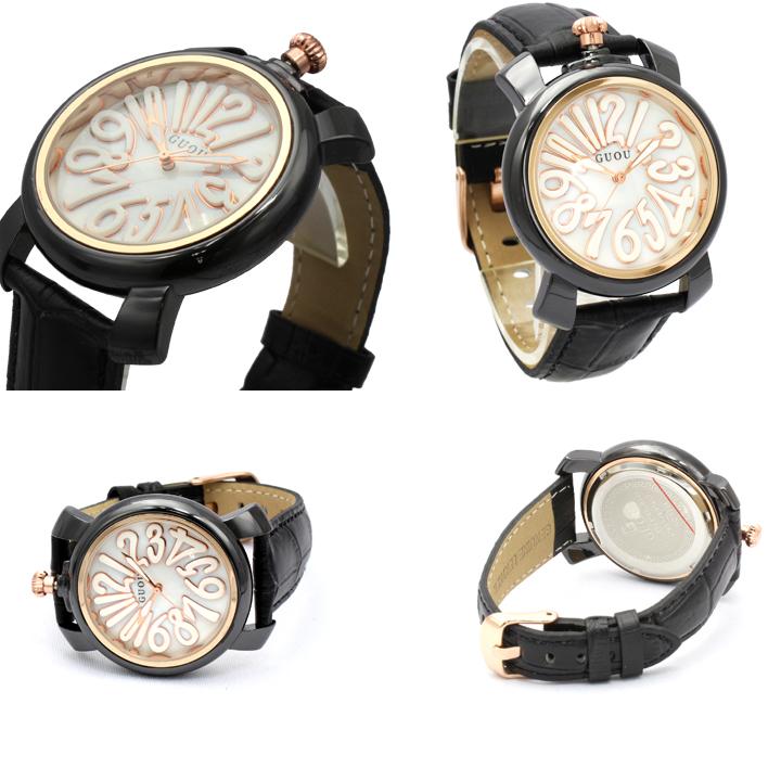 ハイクオリティシェル文字盤 トップリューズ式 レディース 腕時計 GU018