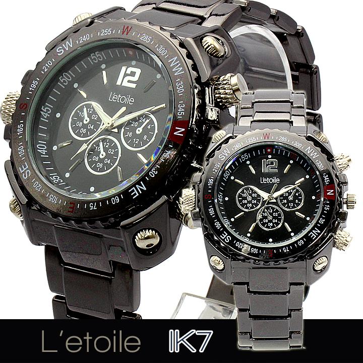 【L'etoile】 ミディアムフェイス メンズ 腕時計 IK71